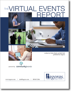 Cover image for The Virtual Events Report from Tagoras